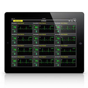 software de visualización / de monitorización / de tratamiento / de telemonitorización de los signos vitales
