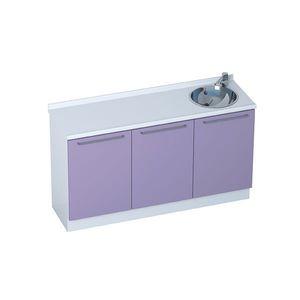 armario para consulta médica / con fregadero / modular / 3 módulos