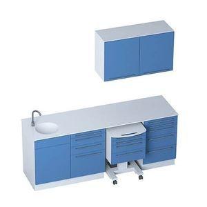 armario de hospital / con cajón / con fregadero / con 2 puertas