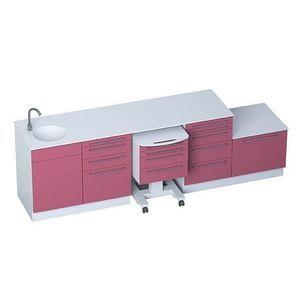 armario de hospital / con cajón / con fregadero / modular