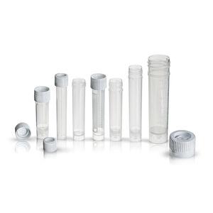 tubo de ensayo de laboratorio / de transferencia / de fondo plano / de polipropileno