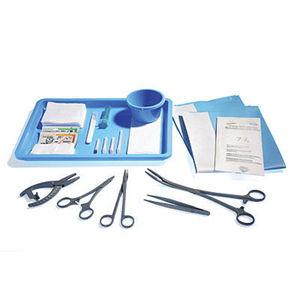 kit de instrumentos para cirugía torácica / estéril / desechable