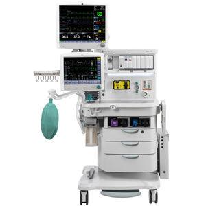 estación de anestesia en carro / con monitorización respiratoria / con mezclador electrónico de gases
