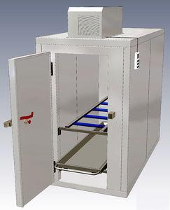 cámara mortuoria frigorífica para camillas mortuorias / 2 cuerpos / de carga frontal / con 1 puerta