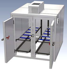 cámara mortuoria frigorífica para camillas mortuorias / 4 cuerpos / de carga frontal / con 2 puertas