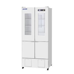 refrigerador de farmacia / de tipo armario / con 4 puertas / con puerta de cristal