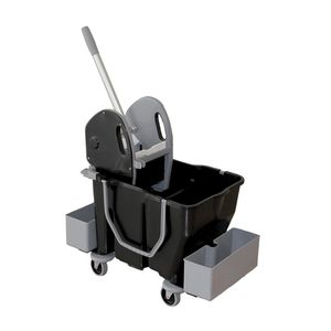 carro de limpieza / de reciclado / con cubo / médico