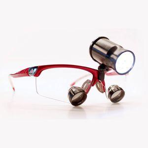 lámpara frontal para lupa binocular