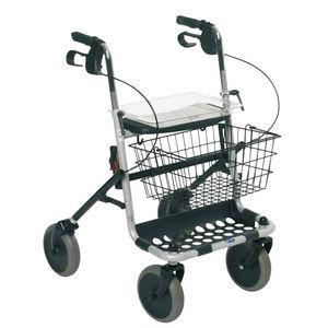 andador con ruedas 4 ruedas / con canastas / de altura variable