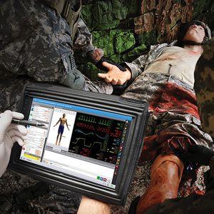 simulador de paciente con trauma