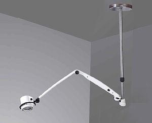 lámpara para cirugía menor halógena / de techo / de altura regulable