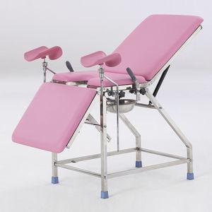mesa de exploración ginecológica / para cirugía menor / neumática / con respaldo regulable