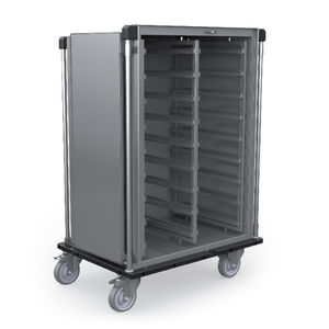 armario para objetos esterilizados / con puerta / móvil / de acero inoxidable