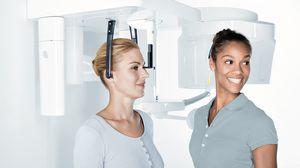 sistema de radiografía panorámica / sistema de radiografía cefalométrica / digital / para suelo
