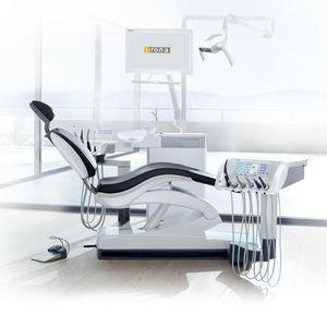 unidad dental con luz LED / con monitor / con reposacabezas flexible / con cámara intraoral