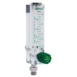 flujómetro de oxígeno / de aire / conectable / de área variable