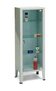 armario para instrumental / para medicamentos / de hospital / con 1 puerta