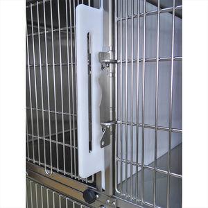 jaula veterinaria 6 compartimentos / de acero inoxidable