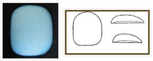 implante pectoral / anatómico / de silicona
