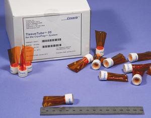 tubo de muestras de laboratorio / de almacenamiento de tejidos / de transferencia / de fondo plano