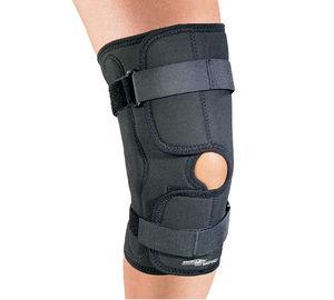 órtesis de rodilla / estabilización de los ligamentos de la rodilla / con refuerzo flexible / rodilla abierta