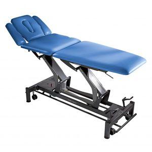 mesa de masaje eléctrica / con ruedas / de altura ajustable / con reposabrazos