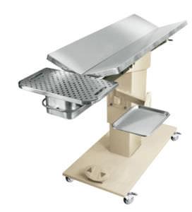 mesa de exploración veterinaria / eléctrica / de altura variable / con ruedas
