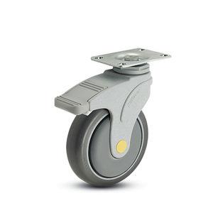 rueda pivotante / con freno / antiestática