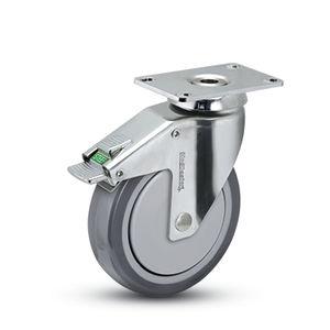 rueda de caucho