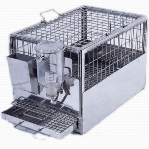 jaula veterinaria para cobayas / modular / de acero inoxidable