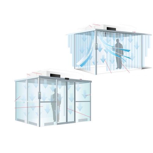 para sala blanca / de acero inoxidable / estructura de aluminio