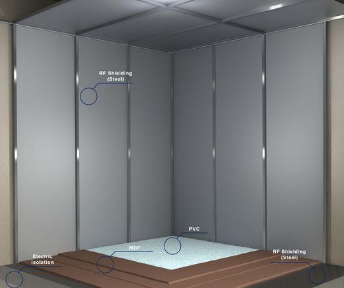 jaula de Faraday / para centro sanitario / con blindaje magnético