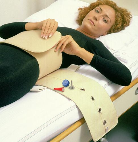 correa de fijación para cama de hospital / abdominal