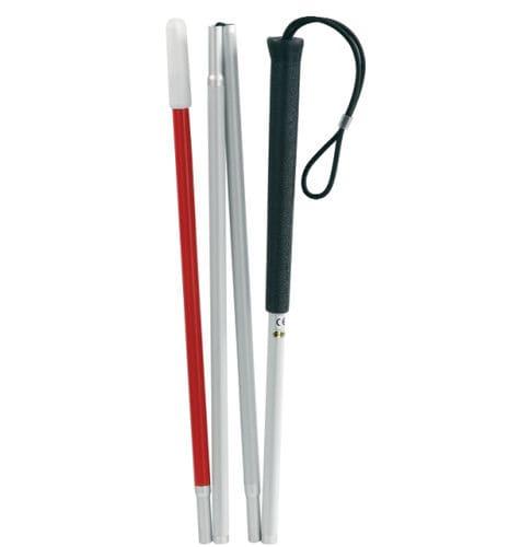 bastón blanco plegable