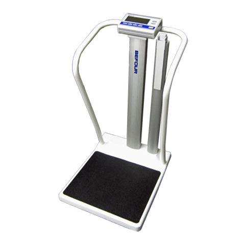 balanza pesa-personas electrónica / con indicador digital / de columna / móvil