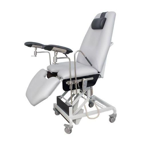 sillón de reconocimiento para urología / eléctrico / de altura variable / con ruedas