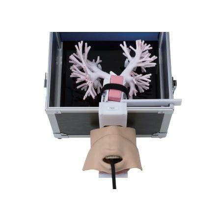 maniquí de prácticas de broncoscopia