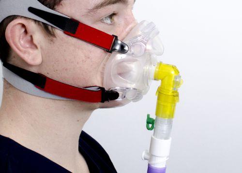 máscara de ventilación de respiración artificial