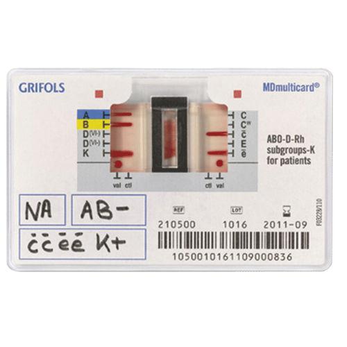 kit de prueba de agrupamiento sanguíneo