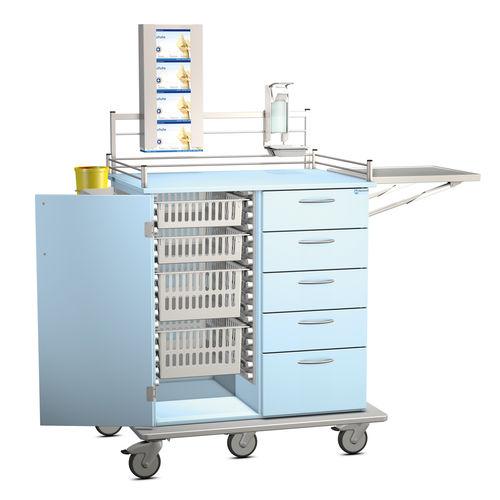 carro multifunción / de uso general / con cajón / con estantes