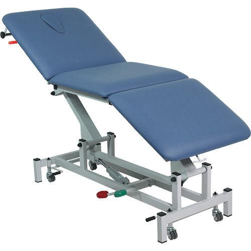 mesa de exploración de fisioterapia / eléctrica / de altura variable / con respaldo regulable