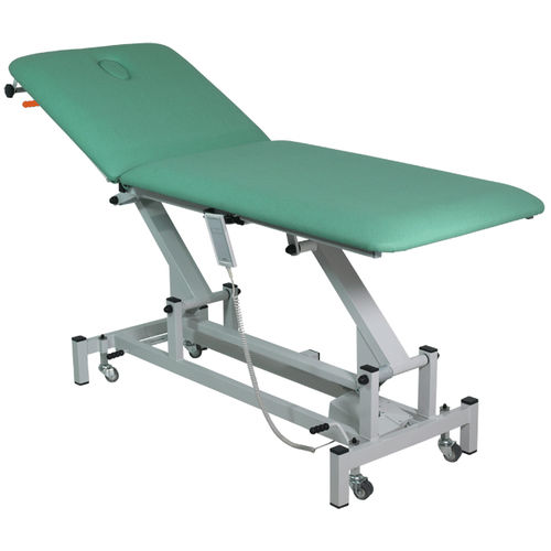 mesa de exploración de fisioterapia / eléctrica / de altura variable / con respaldo regulable