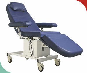 sillón para extracción de sangre eléctrico / de 3 secciones / con ruedas