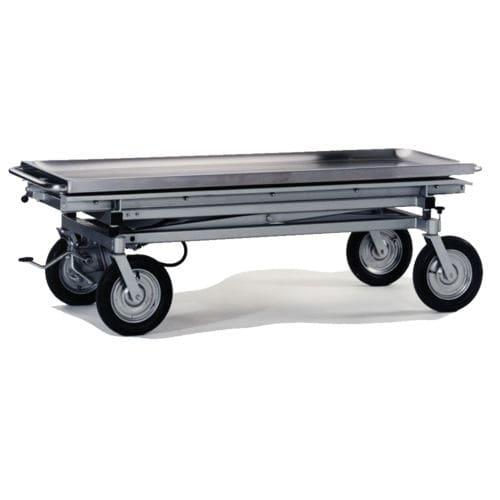 carro mortuorio / de transporte / para ataúdes / de acero inoxidable