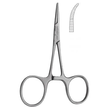 pinza quirúrgica / de Hartmann / hemostática / recta