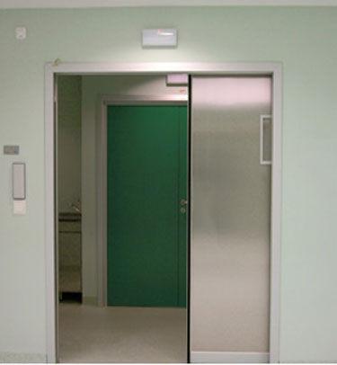 puerta corredera / para unidad de radiología / para centro sanitario / doble