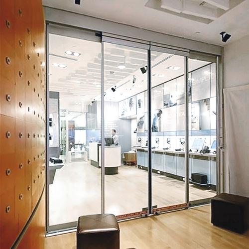 puerta corredera / para centro sanitario / de vidrio / automática