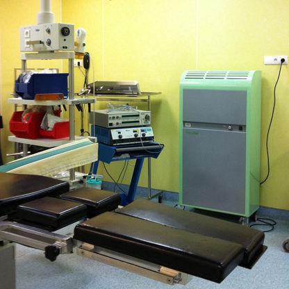 central de tratamiento de aire móvil