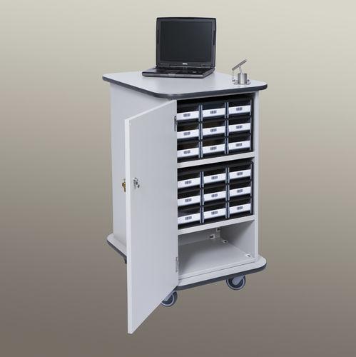 carro de almacenamiento / de transporte / para medicamentos / con cajetines