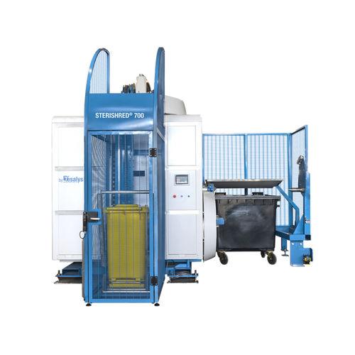 sistema de tratamiento de desechos con trituradora